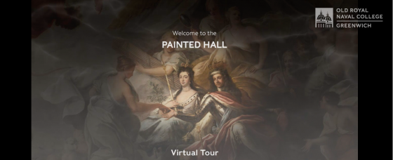 A screenshot of the Painted Hall Virtual Tour website homepage